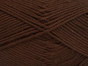 Fiber Content 50% Acrylic, 50% Bamboo, Brand Ice Yarns, Brown, Yarn Thickness 2 Fine  Sport, Baby, fnt2-51649