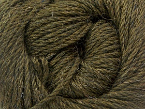 Fiber Content 45% Alpaca, 30% Polyamide, 25% Wool, Brand Ice Yarns, Dark Khaki, Yarn Thickness 3 Light  DK, Light, Worsted, fnt2-51733