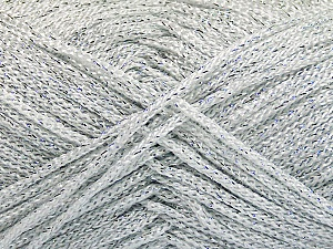 Width is 2-3 mm Fiber Content 100% Polyester, Silver, Brand Ice Yarns, fnt2-51849