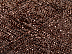 Width is 2-3 mm Fiber Content 100% Polyester, Brand Ice Yarns, Copper, Brown, fnt2-51851