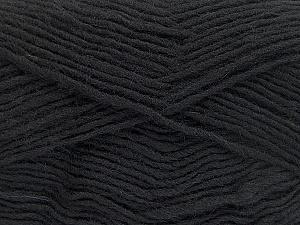 Fiber Content 50% Wool, 50% Acrylic, Brand Ice Yarns, Black, Yarn Thickness 3 Light  DK, Light, Worsted, fnt2-51853