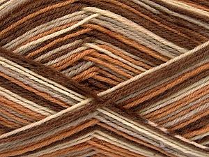 Fiber Content 75% Superwash Wool, 25% Polyamide, Brand Ice Yarns, Camel, Brown Shades, Yarn Thickness 1 SuperFine  Sock, Fingering, Baby, fnt2-51907