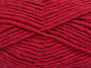 Fiber Content 100% Wool, Brand Ice Yarns, Dark Fuchsia, Yarn Thickness 5 Bulky  Chunky, Craft, Rug, fnt2-51917