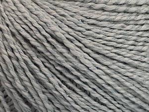 Fiber Content 68% Cotton, 32% Silk, Brand Ice Yarns, Grey, Yarn Thickness 2 Fine  Sport, Baby, fnt2-51924