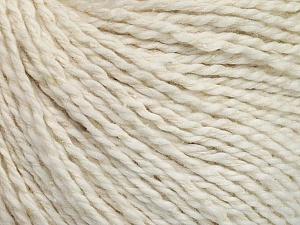 Fiber Content 68% Cotton, 32% Silk, Off White, Brand Ice Yarns, Yarn Thickness 2 Fine  Sport, Baby, fnt2-51925