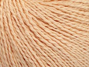 Fiber Content 68% Cotton, 32% Silk, Light Salmon, Brand Ice Yarns, Yarn Thickness 2 Fine  Sport, Baby, fnt2-51927