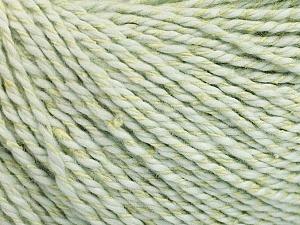 Fiber Content 68% Cotton, 32% Silk, Light Mint Green, Brand Ice Yarns, Yarn Thickness 2 Fine  Sport, Baby, fnt2-51931