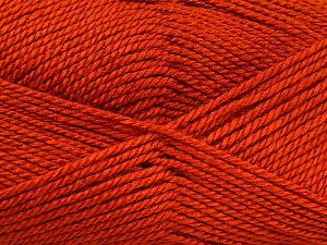 Fiber Content 100% Acrylic, Brand Ice Yarns, Dark Orange, Yarn Thickness 2 Fine  Sport, Baby, fnt2-52118