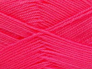 Fiber Content 100% Acrylic, Neon Pink, Brand Ice Yarns, Yarn Thickness 2 Fine  Sport, Baby, fnt2-52242