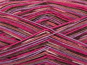 Fiber Content 50% Superwash Merino Wool, 25% Bamboo, 25% Polyamide, Pink Shades, Lilac, Brand Ice Yarns, Brown, Yarn Thickness 1 SuperFine  Sock, Fingering, Baby, fnt2-52244