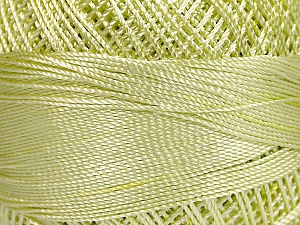 Fiber Content 100% Micro Fiber, Brand YarnArt, Light Green, Yarn Thickness 0 Lace  Fingering Crochet Thread, fnt2-52265