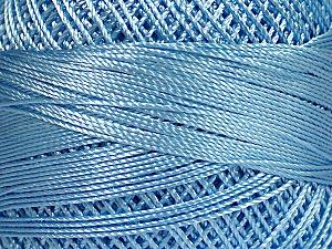 Fiber Content 100% Micro Fiber, Brand YarnArt, Light Blue, Yarn Thickness 0 Lace  Fingering Crochet Thread, fnt2-52268