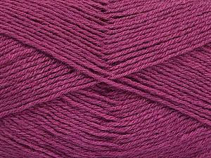 Fiber Content 60% Merino Wool, 40% Acrylic, Brand Ice Yarns, Dark Orchid, Yarn Thickness 2 Fine  Sport, Baby, fnt2-52355