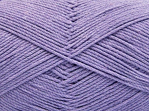 Fiber Content 100% Cotton, Lilac, Brand Ice Yarns, Yarn Thickness 2 Fine  Sport, Baby, fnt2-52365