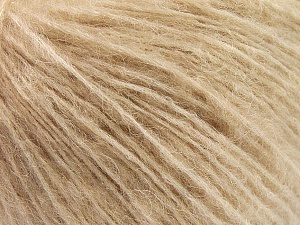 Fiber Content 34% Acrylic, 26% Polyamide, 25% Alpaca, 15% Superwash Merino Wool, Light Camel, Brand Ice Yarns, Yarn Thickness 3 Light  DK, Light, Worsted, fnt2-52382