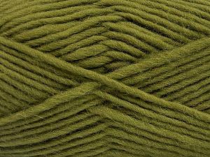 Fiber Content 100% Wool, Brand Ice Yarns, Green, Yarn Thickness 5 Bulky  Chunky, Craft, Rug, fnt2-52569