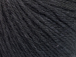 Fiber Content 55% Baby Alpaca, 45% Superwash Extrafine Merino Wool, Brand Ice Yarns, Black, Yarn Thickness 3 Light  DK, Light, Worsted, fnt2-52760