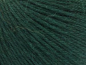 Fiber Content 55% Baby Alpaca, 45% Superwash Extrafine Merino Wool, Brand Ice Yarns, Dark Green, Yarn Thickness 3 Light  DK, Light, Worsted, fnt2-52764
