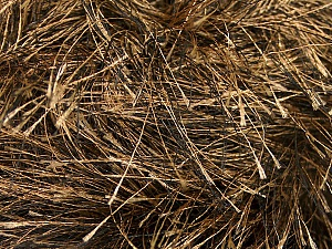 Fiber Content 100% Polyester, Brand Ice Yarns, Camel, Black, Yarn Thickness 6 SuperBulky  Bulky, Roving, fnt2-52770