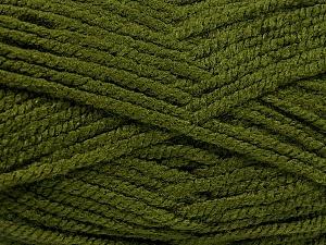 Fiber Content 100% Acrylic, Brand Ice Yarns, Hunter Green, Yarn Thickness 5 Bulky  Chunky, Craft, Rug, fnt2-53178