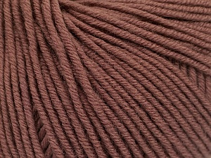 SUPERWASH MERINO EXTRAFINE is a DK weight, 100% extra fine Italian-style superwash merino wool making it extremely soft, as well as durable.  High twist and smooth texture gives unbelievable stitch definition making this a good choice for any project that you want to show off your stitch work. Projects knit and crocheted in SUPERWASH MERINO EXTRAFINE are machine washable! Lay flat to dry. Do not bleach. Do not iron Fiber Content 100% Superwash Extrafine Merino Wool, Brand Ice Yarns, Brown, Yarn Thickness 3 Light  DK, Light, Worsted, fnt2-53344