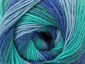 Fiber Content 60% Acrylic, 20% Wool, 20% Angora, Turquoise Shades, Brand Ice Yarns, Blue Shades, Yarn Thickness 2 Fine  Sport, Baby, fnt2-53565