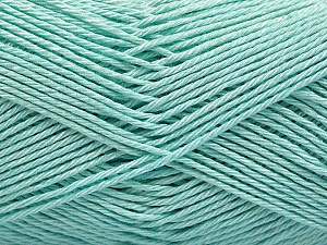 Fiber Content 100% Mercerised Cotton, Light Mint Green, Brand Ice Yarns, Yarn Thickness 2 Fine  Sport, Baby, fnt2-53796