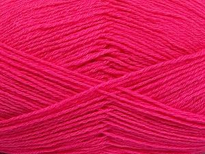 Fiber Content 60% Merino Wool, 40% Acrylic, Brand Ice Yarns, Bright Pink, Yarn Thickness 2 Fine  Sport, Baby, fnt2-53825