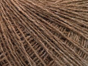Fiber Content 50% Acrylic, 25% Merino Wool, 25% Alpaca, Brand Ice Yarns, Camel Melange, Yarn Thickness 2 Fine  Sport, Baby, fnt2-53838