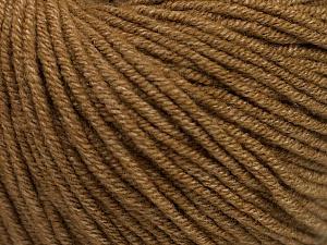 Fiber Content 50% Acrylic, 50% Cotton, Light Brown, Brand Ice Yarns, Yarn Thickness 3 Light  DK, Light, Worsted, fnt2-54666