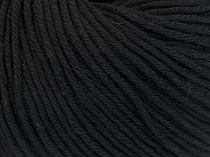 Global Organic Textile Standard (GOTS) Certified Product. CUC-TR-017 PRJ 805332/918191 Fiber Content 100% Organic Cotton, Brand Ice Yarns, Black, Yarn Thickness 3 Light  DK, Light, Worsted, fnt2-54793