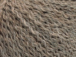 Fiber Content 42% Wool, 38% Acrylic, 19% Alpaca, 1% Elastan, Brand Ice Yarns, Beige Melange, Yarn Thickness 3 Light  DK, Light, Worsted, fnt2-54825