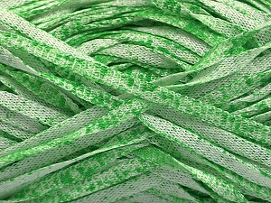 Fiber Content 82% Viscose, 18% Polyester, White, Light Green, Brand Ice Yarns, Yarn Thickness 5 Bulky  Chunky, Craft, Rug, fnt2-55012