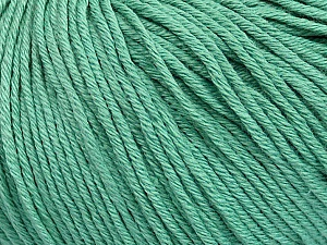Global Organic Textile Standard (GOTS) Certified Product. CUC-TR-017 PRJ 805332/918191 Fiber Content 100% Organic Cotton, Brand Ice Yarns, Emerald Green, Yarn Thickness 3 Light  DK, Light, Worsted, fnt2-55219