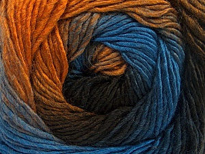 Fiber Content 50% Acrylic, 50% Wool, Brand Ice Yarns, Gold, Brown Shades, Blue, Yarn Thickness 2 Fine  Sport, Baby, fnt2-55353