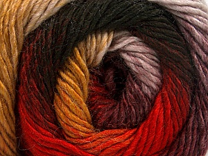 Fiber Content 50% Acrylic, 50% Wool, Red, Maroon, Brand Ice Yarns, Gold, Black, Yarn Thickness 2 Fine  Sport, Baby, fnt2-55384