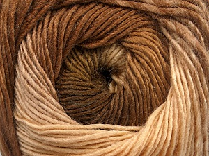 Fiber Content 50% Acrylic, 50% Wool, Brand Ice Yarns, Cream, Brown Shades, Yarn Thickness 2 Fine  Sport, Baby, fnt2-55517