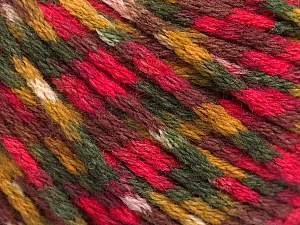 Fiber Content 60% Acrylic, 40% Wool, Olive Green, Maroon, Khaki, Brand Ice Yarns, Fuchsia, Yarn Thickness 3 Light  DK, Light, Worsted, fnt2-55525