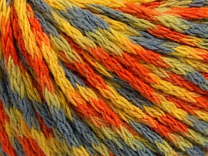 Fiber Content 60% Acrylic, 40% Wool, Yellow, Orange, Light Blue, Brand Ice Yarns, Green, Yarn Thickness 3 Light  DK, Light, Worsted, fnt2-55527