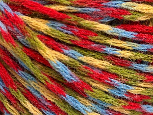 Fiber Content 60% Acrylic, 40% Wool, Yellow, Red, Brand Ice Yarns, Green, Blue, Yarn Thickness 3 Light  DK, Light, Worsted, fnt2-55529