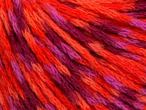 Fiber Content 60% Acrylic, 40% Wool, Purple, Orange, Lilac, Brand Ice Yarns, Fuchsia, Yarn Thickness 3 Light  DK, Light, Worsted, fnt2-55530
