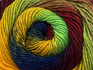 Fiber Content 50% Wool, 50% Acrylic, Yellow, Neon Green, Brand Ice Yarns, Burgundy, Blue, Yarn Thickness 2 Fine  Sport, Baby, fnt2-55563