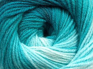Fiber Content 100% Acrylic, Turquoise Shades, Brand Ice Yarns, Yarn Thickness 3 Light  DK, Light, Worsted, fnt2-55950