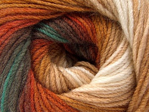Fiber Content 100% Acrylic, White, Brand Ice Yarns, Green, Brown Shades, Yarn Thickness 3 Light  DK, Light, Worsted, fnt2-56086