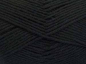 Fiber Content 50% SuperFine Acrylic, 50% SuperFine Nylon, Brand Ice Yarns, Black, Yarn Thickness 4 Medium  Worsted, Afghan, Aran, fnt2-56279