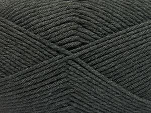 Fiber Content 50% SuperFine Nylon, 50% SuperFine Acrylic, Brand Ice Yarns, Dark Grey, Yarn Thickness 4 Medium  Worsted, Afghan, Aran, fnt2-56280