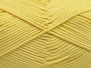 Fiber Content 50% SuperFine Nylon, 50% SuperFine Acrylic, Light Yellow, Brand Ice Yarns, Yarn Thickness 4 Medium  Worsted, Afghan, Aran, fnt2-56284