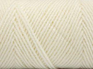Fiber Content 50% Wool, 50% Acrylic, White, Brand Ice Yarns, Yarn Thickness 3 Light  DK, Light, Worsted, fnt2-56423