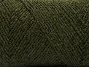 Fiber Content 50% Acrylic, 50% Wool, Brand Ice Yarns, Dark Khaki, Yarn Thickness 3 Light  DK, Light, Worsted, fnt2-56430