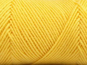 Fiber Content 50% Wool, 50% Acrylic, Yellow, Brand Ice Yarns, Yarn Thickness 3 Light  DK, Light, Worsted, fnt2-56439